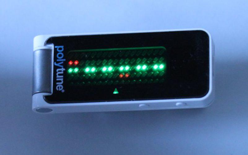 チューナーの測定モードのポリフォニックモード