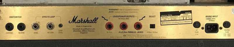 Marshall JCM2000のバックパネル