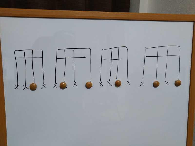 16分音符を基本とした付点八分音符のリズムパターンのカッティングフレーズ8