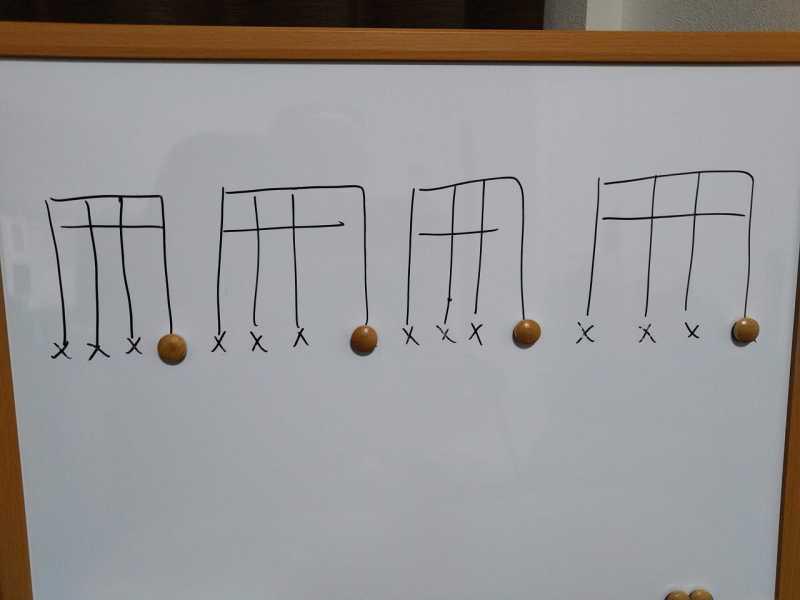 16分音符を基本とした四分音符のリズムパターンのカッティングフレーズ4