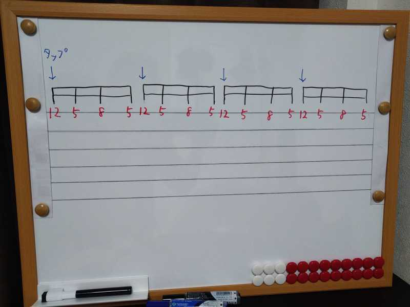 練習フレーズ2:ハンマリング・オンとプリング・オフを使ったタッピング演奏