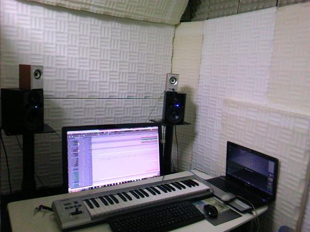 2012年2月のDTMで防音環境を整えたDTM作業環境の部屋全体