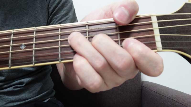 ギターのFコードを省略した押さえ方