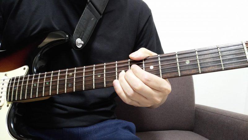 ギターのチョークアップの左手のやり方