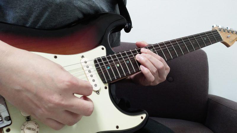 ギターのハーモナイズドチョーキングの左手のやり方