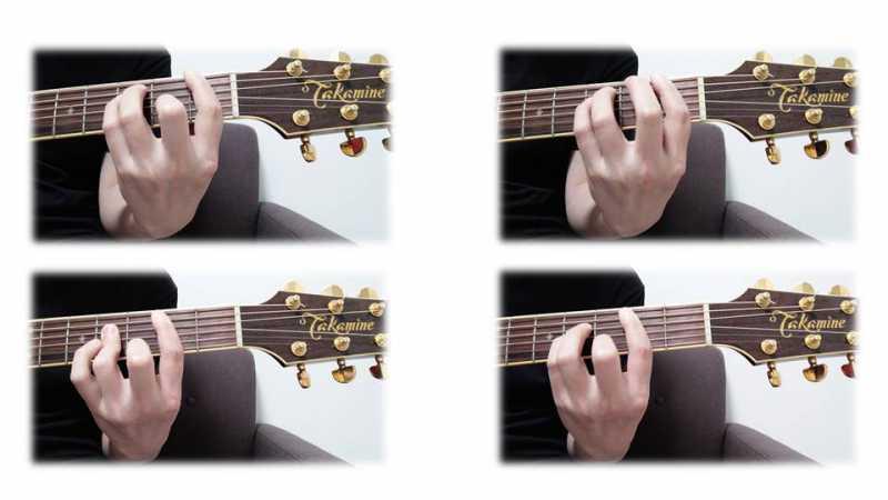 ギターのバレーコードの基本フォームは4種類