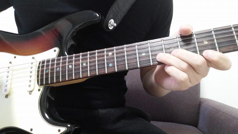 1弦と2弦でユニゾンチョーキングする場合