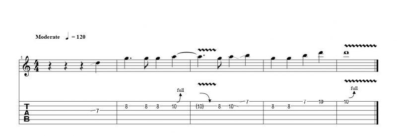 ギターのチョーキングの練習フレーズ