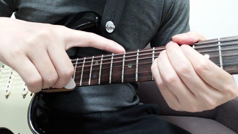 ギターのダブルチョーキングの左手のやり方