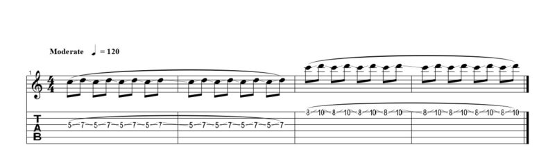 練習フレーズ1:ジャックオフビブラートの基本動作