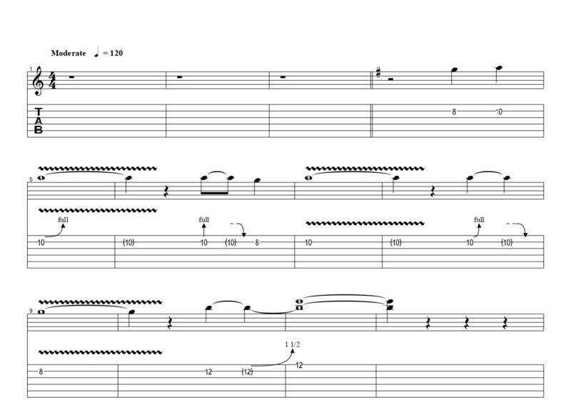 ギターのチョーキングビブラートの練習フレーズ