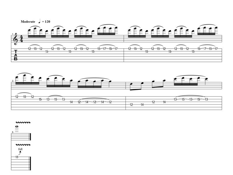 ギターのジャックオフビブラートの練習フレーズ