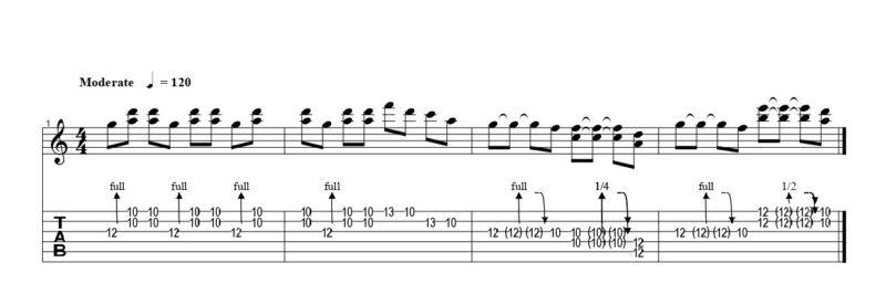 ギターのダブルチョーキングの練習フレーズ