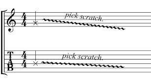 ピックスクラッチの音程