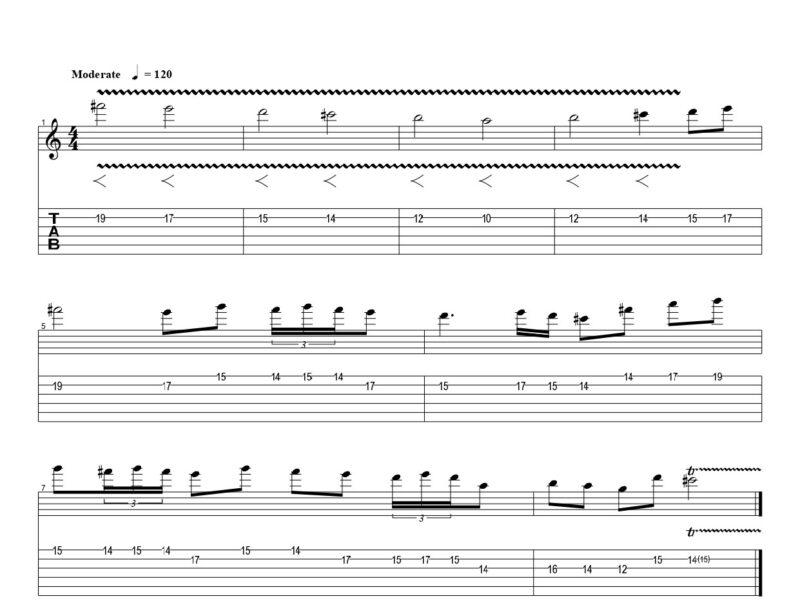 練習フレーズ1:クラシックをボリューム奏法で弾こう