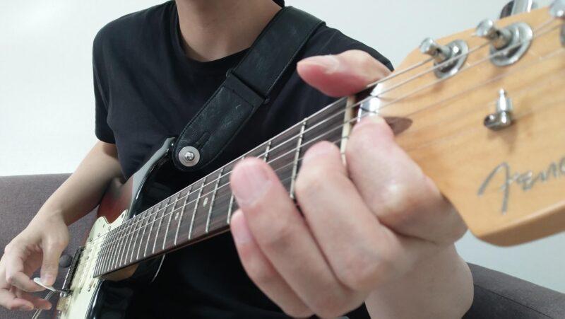 開放弦を使ってナットベンドをするやり方